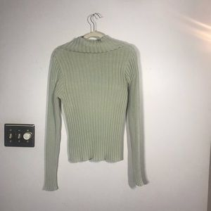 Banana Republic Sweaters - BANANA REPUBLIC Light Green Ribbed Sweater, size M